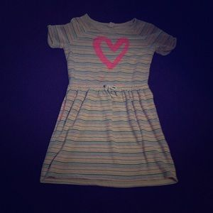 Colorful stripped Girls dress.